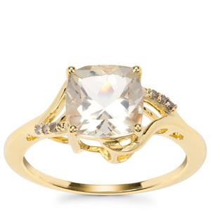 Serenite Ring with Champagne Diamond in 9K Gold 2.04cts