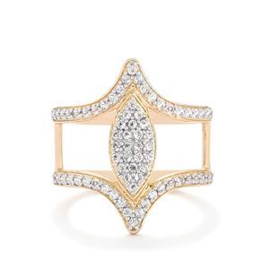 White Topaz Ring in Rose Gold Vermeil 0.73ct