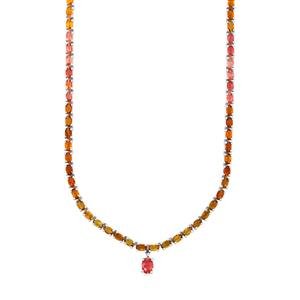 Rainbow Tourmaline Necklace in Sterling Silver 20.45cts