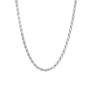 "18"" Sterling Silver Tempo Rope Chain 5.80g"