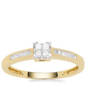 Diamond Ring in 9K Gold 0.25ct