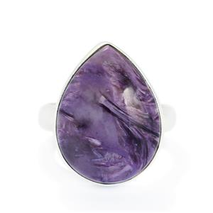 13.00ct Charoite Sterling Silver Aryonna Ring