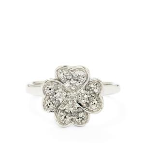 1/10ct Diamond Sterling Silver Ring