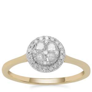 Diamond Ring in 9K Gold 0.40ct