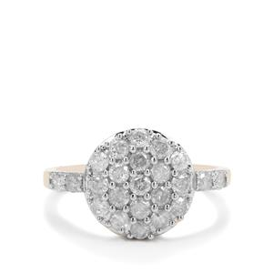 GH Diamond Ring in 9K Gold 1cts