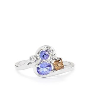 Harlequin Gems Ring in 10K White Gold 0.78ct