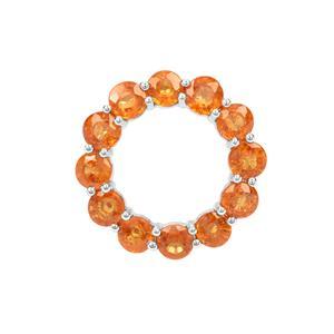 Mandarin Garnet Pendant in Sterling Silver 6.55cts