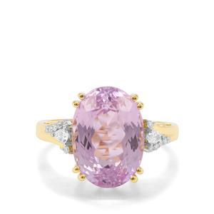 Mawi Kunzite & Diamond 18K Gold Tomas Rae Collection Ring MTGW 8.43cts