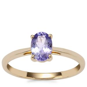 AA Tanzanite Ring in 9K Gold 0.87ct