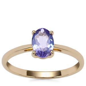 AA Tanzanite Ring in 9K Gold 0.70ct