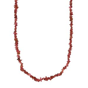 Balas Pink Tourmaline Nugget Necklace 80cts