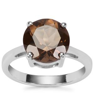 Smokey Quartz Ring in Sterling Silver 3.51cts