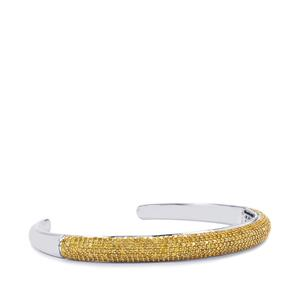 3ct Yellow Diamond Sterling Silver Cuffs
