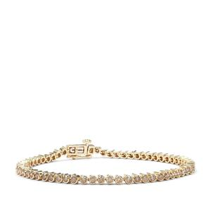 3ct Champagne Diamond 9K Gold Tomas Rae Bracelet