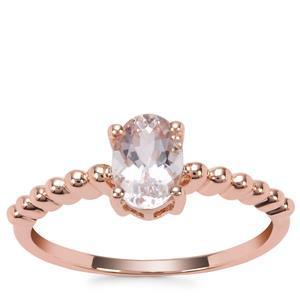Nigerian Morganite Obrs of Light Ring in 9K Rose Gold 0.68ct