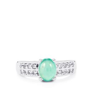Aquaprase™ Ring with White Topaz in Sterling Silver 1.56cts