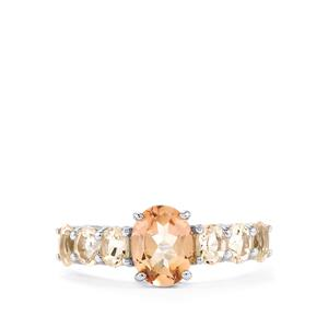 Galileia Topaz Ring with Zambezia Morganite in Sterling Silver 2.31cts