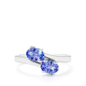 AA Tanzanite Ring in Sterling Silver 1.20cts