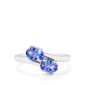 1.20ct AA Tanzanite Sterling Silver Ring