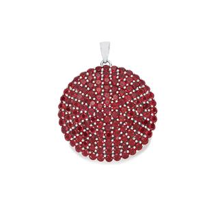 Malagasy Ruby Pendant in Sterling Silver 22.86cts (F)