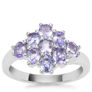 Tanzanite Ring in Sterling Silver 1.56cts