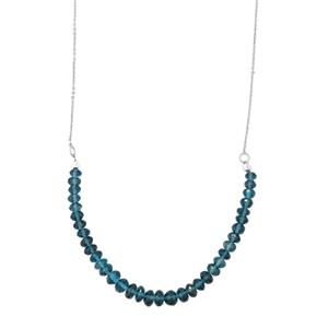 Marambaia London Blue Topaz Graduated Bead Necklace in Sterling Silver 31cts