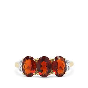 Madeira Citrine & Diamond 9K Gold Ring ATGW 2.23cts