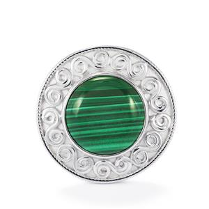 13.09ct Malachite Sterling Silver Aryonna Ring