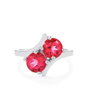 3.07ct Mystic Pink Topaz Sterling Silver Ring