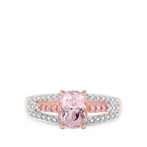 Kolum Kunzite & Sakaraha Pink Sapphire Rose Midas Ring ATGW 1.86cts
