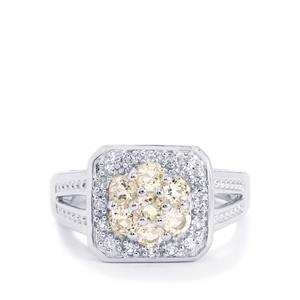 Zambezia Morganite & White Topaz Sterling Silver Ring ATGW 0.92cts