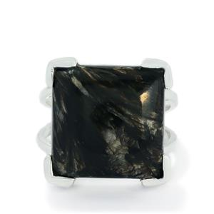 13.50ct Midnight Seraphinite Sterling Silver Aryonna Ring