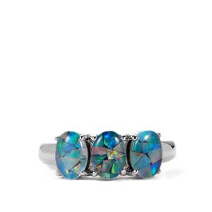 Mosaic Opal Sterling Silver Ring