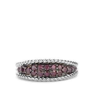 Purple Diamond Ring in Sterling Silver 0.50ct