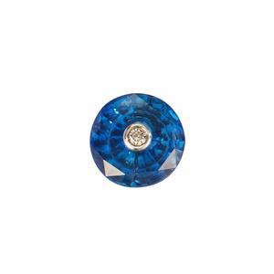 Lehrer TorusRing Cut Blue Sapphire Loose Stone with VSI Diamond 2.19cts