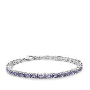 6.90ct Tanzanite Sterling Silver Bracelet