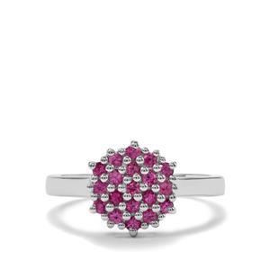 0.58ct Sakaraha Pink Sapphire Sterling Silver Ring