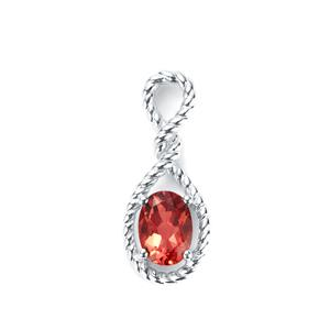 0.76ct Mongolian Andesine Sterling Silver Pendant