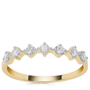 Canadian Diamond Ring in 9K Gold 0.26ct