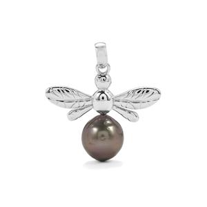 Tahitian Cultured Pearl Sterling Silver Pendant (13.50mm x 11.50mm)