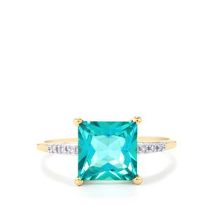 Batalha Topaz Ring with Diamond in 10K Gold 3.03cts