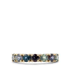 Tunduru Colour Change Sapphire Ring in 10K Gold 1.90cts