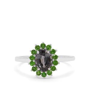 Mogok Silver Spinel & Chrome Diopside Sterling Silver Ring ATGW 1.29cts