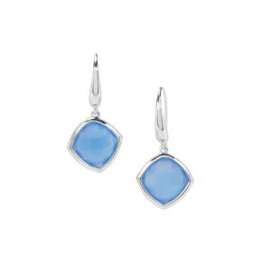 Blue Chalcedony Earrings in Sterling Silver 8.48cts