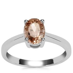 Zambezia Morganite Ring in Sterling Silver 1.11cts