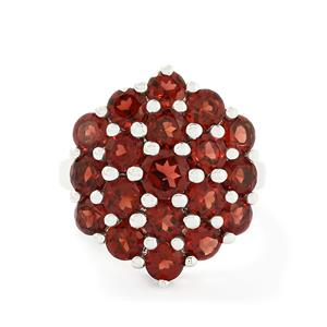 6.38ct Mozambique Garnet Sterling Silver Ring