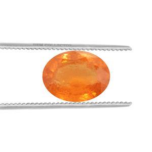 Mandarin Garnet Loose stone  2.77cts