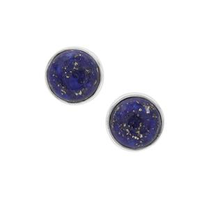Sar-i-Sang Lapis Lazuli Earrings in Sterling Silver 4.20cts