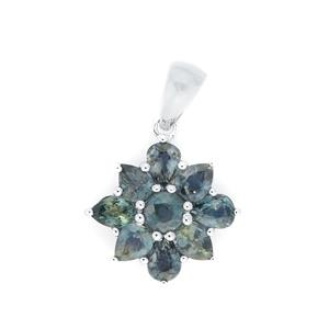 Madagascan Natural Sapphire Pendant in Sterling Silver 2.44cts