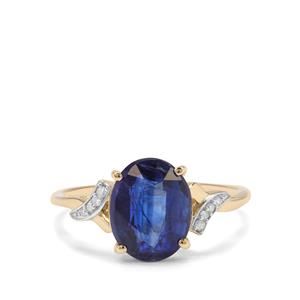 Nilamani Ring with Diamond in 9K Gold 3.25cts